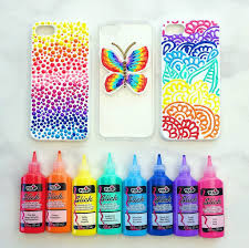 diy puffy paint phone cases