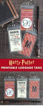 diy crafts free printable harry potter luggage tags so cute and fun for a harry potter par