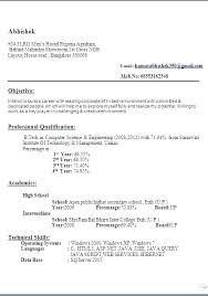 Curriculum Vitae Cv Format Download Curriculum Vitae Resume Format Curriculum Vitae Resume Samples