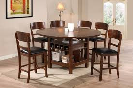sierra nevada large round rustic solid wood dining table view larger