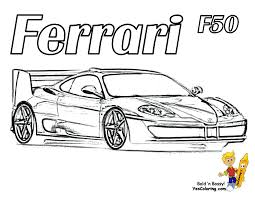 Cars Coloring Page Ferrari Laferrari F150 Letmecolor Com To