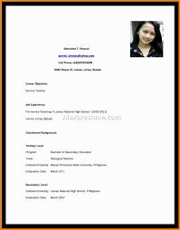 7 Employment Curriculum Vitae Sample Waa Mood