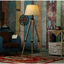 rustic floor lamps wooden uk charming lamp lighting glamorous wood