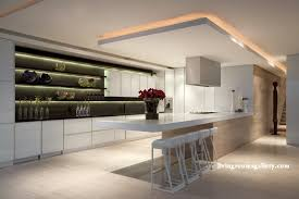 modern pop false ceiling designs with led ceiling lighting for kitchen