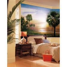 Palm Tree Bedroom Furniture Bedroom Good Beach Wallpaper Mural For Bedroom And Nice Rug Also