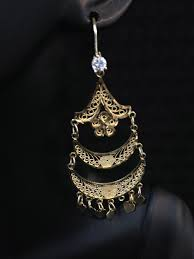 10k gold chandelier style earrings indian kundan ic and gold jewelry in atlanta and