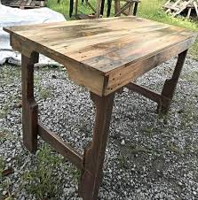 diy furniture made from pallets. recycled pallet table with scorched surfaces diy furniture made from pallets