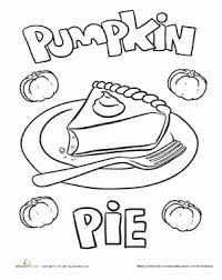 Small Picture Thanksgiving Coloring Pages Pumpkin Pie Coloring Pages