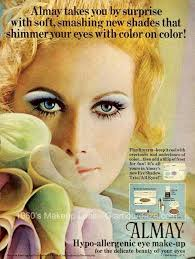 pic linked from a quick history of blue eye shadow find this pin and more on 1960s makeup