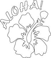 Small Picture aloha poster with flower coloring page Luau Pinterest