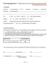 Coaching Agreement Contract Template (Sample) | Life Coach Tools ...