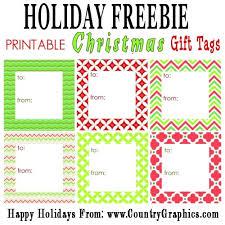 Free Printable Modern Holiday Gift Tags Country Graphics
