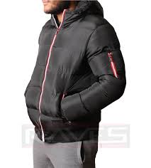 mens jacket er padded quilted max edition full zip warm winter coat sochi