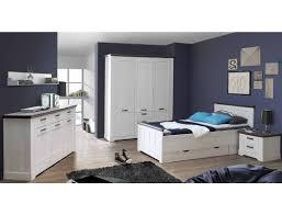 Schlafzimmer Gaston 61 Weiß Grau Schneeeiche 6 Teilig