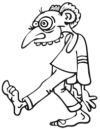 Zombie Coloring Page Goofy Looking Zombie Coloring Kids