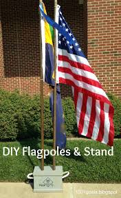 diy flagpoles and stand cub scouts