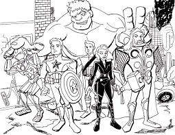 Small Picture Coloring Pages Coloring Page Kids Pages Avengers Peruclass