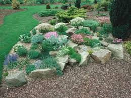 A natural-looking rock garden is a great way to spotlight understated  flowers and plants