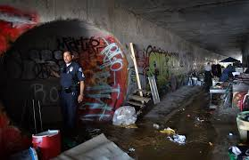 garden grove homeless task force conduct a cleanup sweep of homeless living in the storm drains behind calvary chapel on knott ave mental health