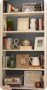 awesome Styling Bookcases For a Much Used Family Room: Mixing Pretty and  Necessity