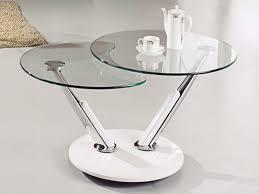 circular glass coffee table two side