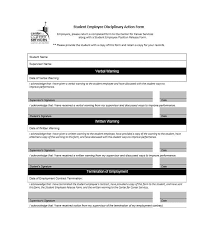 Employee Disciplinary Action Form Inspiration 48 Employee Disciplinary Action Forms Template Lab