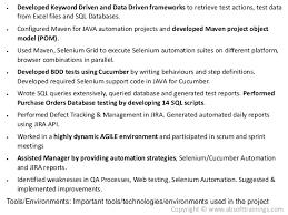 Database Testing Resumes Database Testing Resumes Under Fontanacountryinn Com