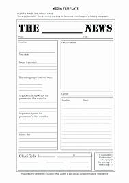 Where Can I Find A Newspaper Template Google Docs Newspaper Template Best Of Free Newspaper Template