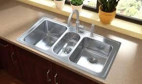 Elkay Lustertone DropIn Stainless Steel 43 In 3Hole Triple Bowl 43 Kitchen Sink