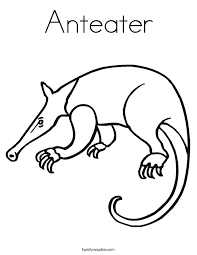 Small Picture Anteater Coloring Page Twisty Noodle