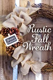 supplies needed to make your own diy fall wreath