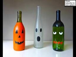 Wine Bottles Decorated For Halloween Picture Collection Of Craft By Using Empty Wine Bottles 2