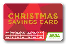 Christmas Savings Card Asda Cards