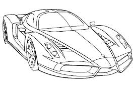 Small Picture Ferrari Cars Outline Colouring Page Colouring Tube