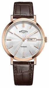 rotary watches official uk retailer first class watches rotary mens brown leather strap rose gold plated gs05304 02