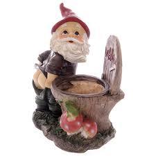 cheap garden gnomes. Cheeky Garden Gnome Showing Bottom With Toilet Welcome Sign Cheap Gnomes E
