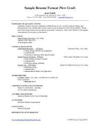 New Nurse Grad Resume Registered Sample