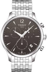 tissot t063 617 11 067 00 men 039 s tradition silver stainless tissot t063 617 11 067 00 men s tradition silver stainless steel band black dial watch