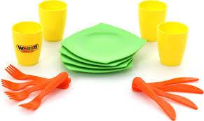 <b>Полесье Столовый набор</b> игрушечной <b>посуды</b> на 4 персоны ...