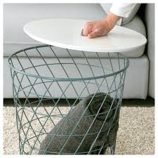 side table basket 3 tier round end with storage coffee