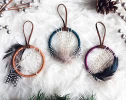 Dream Catcher Christmas Ornament Dreamcatcher Christmas Ornaments Holiday Party Favors 4
