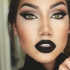 mua dasena1876 night qu insram photo black lipstick makeupdark