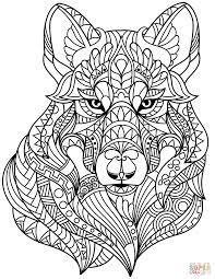 wolf head zentangle elegant zentangle coloring book