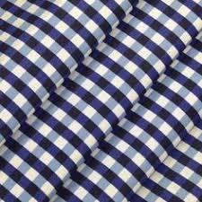 Quilt Cotton Misty Light Paisley Blue RJR Fabrics Price PER 1 2M ... & FQ Navy Blue Gingham Plaid Check ON White 100 Cotton Fabric Dress Quilt  A133 | eBay Adamdwight.com