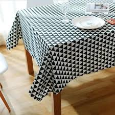 pattern decorative table cloth cotton linen tablecloth dining cover for kitchen home decor 90 inch round