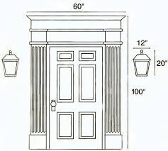 Contemporary Front Door Drawing Lamps Lighting Exterior Fixtures Light Home Exteriors For Design Inspiration