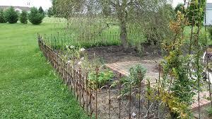 iron garden edging home design ideaetal garden border fence