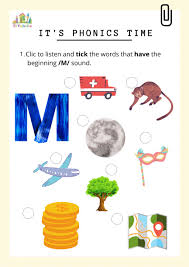 Listen and fill in the final sound grade/level: Phonic M Interactive Worksheet
