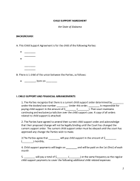 32 Free Child Support Agreement Templates Pdf Ms Word