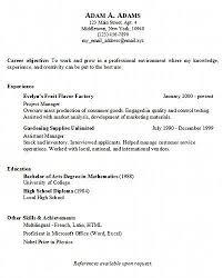 Simple Resume Outline Basic Resume Outline Cute Resume Help Resume